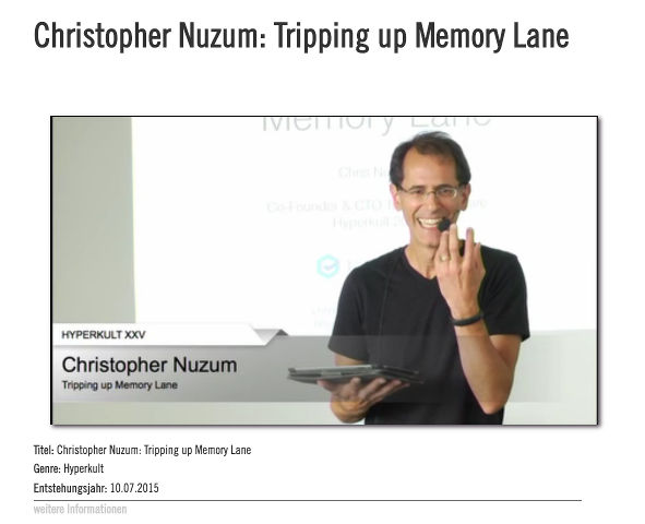 Christopher Nuzum: Tripping up Memory Lane